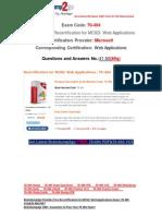[Braindump2go] Latest 70-494 PDF Free 100% Pass Guaranteed 41-50