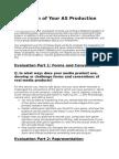 Evaluation of Your as Production Portfolio