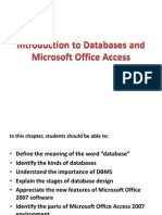 Introduction to Databases and Microsoft Office Access 2007