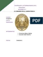 TECNICAS COMUNES EN EL LABORATORIO IIinforme numnero 1