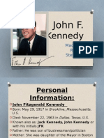 John F. Kennedy presentation