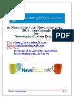 Www.newstechcafe.com November 2015 GK Capsule Download