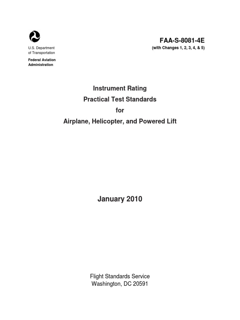 Faa Instrument Rating Practical Test Instrument Flight Rules