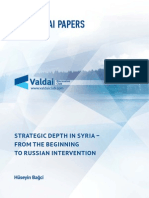 Strategic Depth in Syria - From the Beginning to Russian Intervention