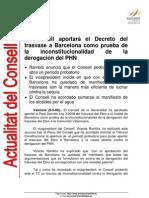 2008-05-09 El Consell aportará el Decreto del trasvase a Barcelona como prueba de la inconstitucionalidad de la derogación del PHN