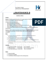 Anveshan 3.0 Guidelines & Rules