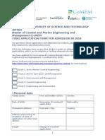 CoMEM 2016 Application Form