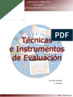 Las técnicas e instrumentos de evaluación