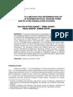 Nebivolol HPLC Dissolution