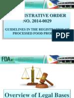 Administrative Order No. 2014-0029 QPIRA 23 24 April 2015