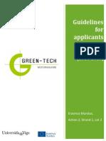 GreenTech Guidelines Applicants 2014 2015 PART1 OVERVIEW En