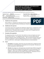 project exit report