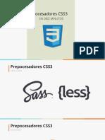 Preprocesadores CSS 3