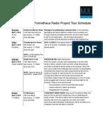 Prometheus SATX Schedule