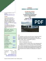 Electrix 3 Building System Agrement Certificate (1)