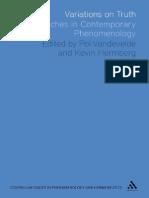 Issues in Phenomenology and Hermeneutics