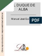 Quintana, Manuel.- El Duque de Alba