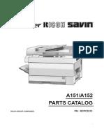 Parts Catalog´s Ricoh FT3212