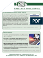 Maintaining Repairing and Cleaning Stainless Steel