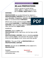 Adverbs and Prepositions