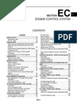Nissan Engine Manual EC | Medical Diagnosis | Fuel Injection