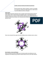CH2201 – Organometallics and Cluster Chemistry of the Main Group Elements
