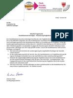 Steuergelder für Handelskammer - Anfrage & Antwort BürgerUnkion - A. Pöder
