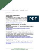 Boletín de noticias KLR 07DIC2015