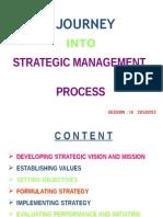 Ajourney into strategic management process