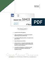 Ensayo1 Simce Matematica 4basico 2015