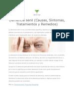 Demencia senil (Causas, Síntomas, Tratamientos y Remedios)