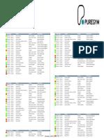 Puregum Timetable July 2015.