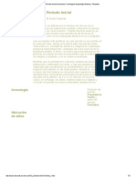 Periodo Inicial Secuencia Cronológica Arqueología Andina y Tiwanaku