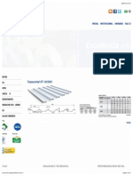 Regional Telhas - Telha Acustica RT 40 ,0980 (ESP. 0,43 ) - EPS 30 MM