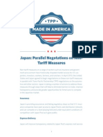 TPP Summary Japan Parallel Negotiations on Non Tariff Measures