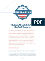 TPP Summary US Japan Motor Vehicle Trade Non Tariff Measures
