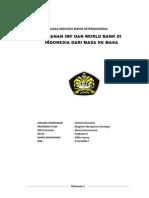 Makalah Peranan Imf Dan World Bank Di Indonesia Dari Masa Ke Masa (1)