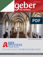 Ratgeber aus Ihrer City-Apotheke – Dezember 2015