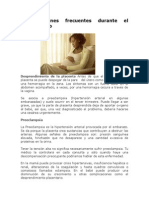 Complicaciones Frecuentes Durante El Embarazo