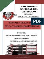 Caratula Resumen Ética y Moral Profesional