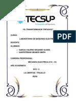EL TRANSFORMADOR MONOFASICO-lab4- Santisteban-garcia Valerio