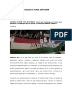 Relación de Notas 21-11-2014