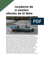 Los Pescadores de Manabí Sienten Efectos de El Niño