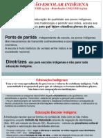 DCN EDUCAÇÃO ESCOLAR INDÍGENA