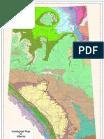 Geological Map of Alberta