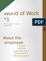 world of work