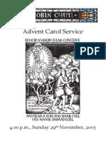 Advent Carol Service 2015