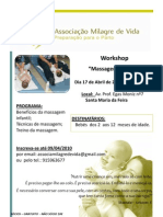 Workshop Massagem ao bebé
