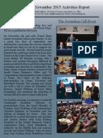 Friend Ships Activities Report - November 2015
