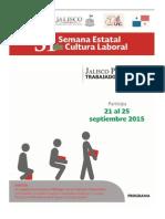 Programa Definitivo Semana Estatal Cultura Laboral 2015